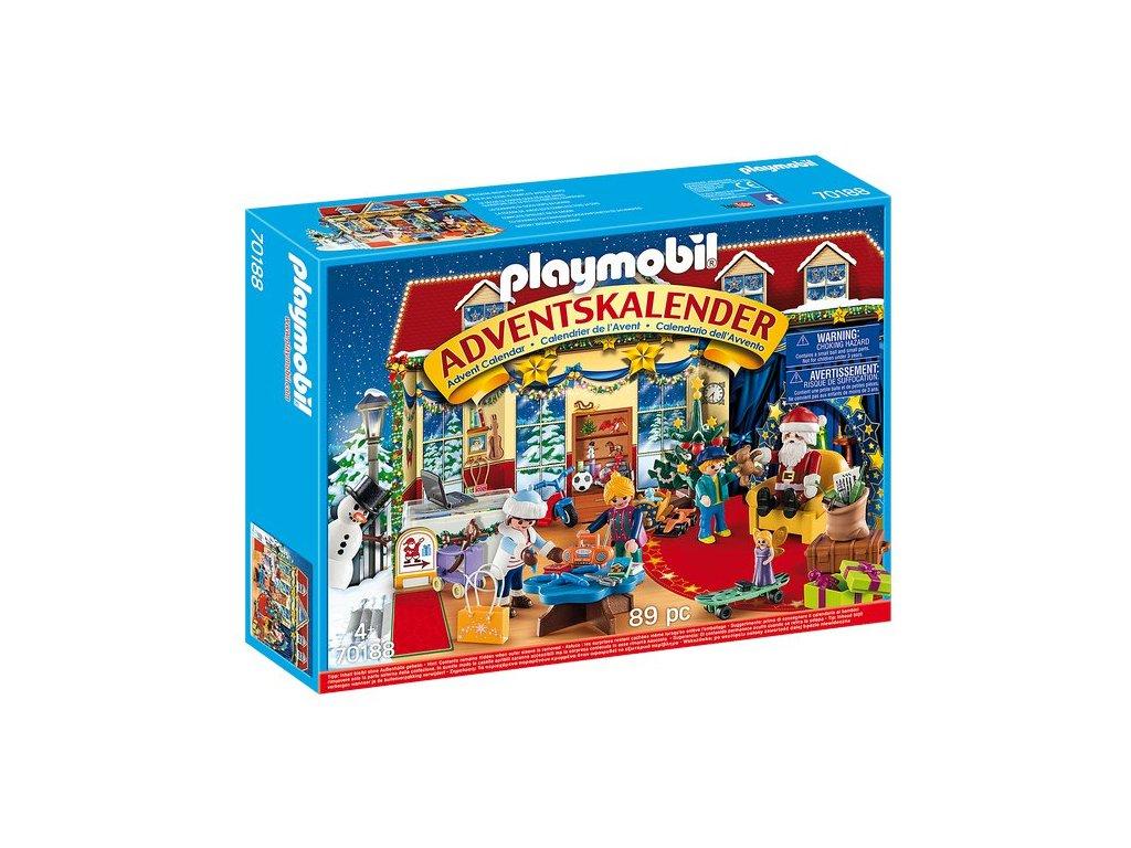 """Adventní kalendář Playmobil """"Vánoce v hračkářství"""""""