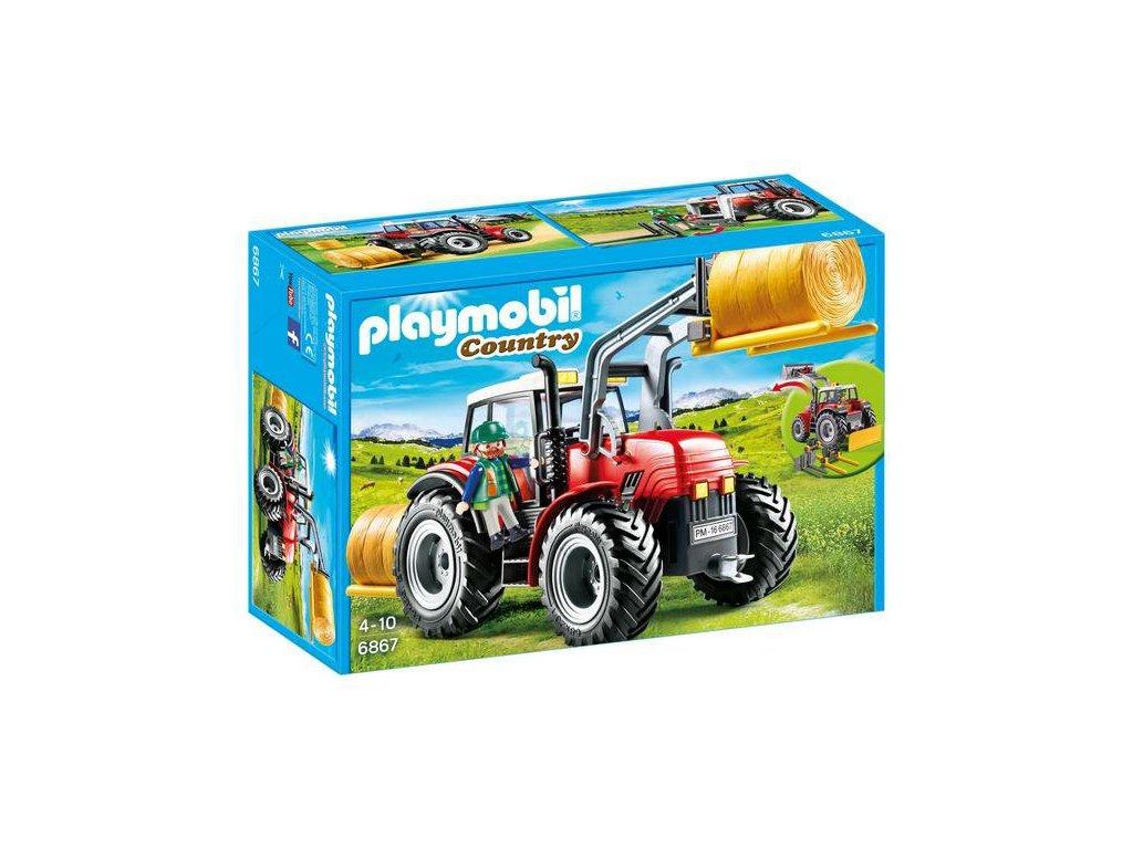 Playmobil Velký traktor se speciálním nářadím
