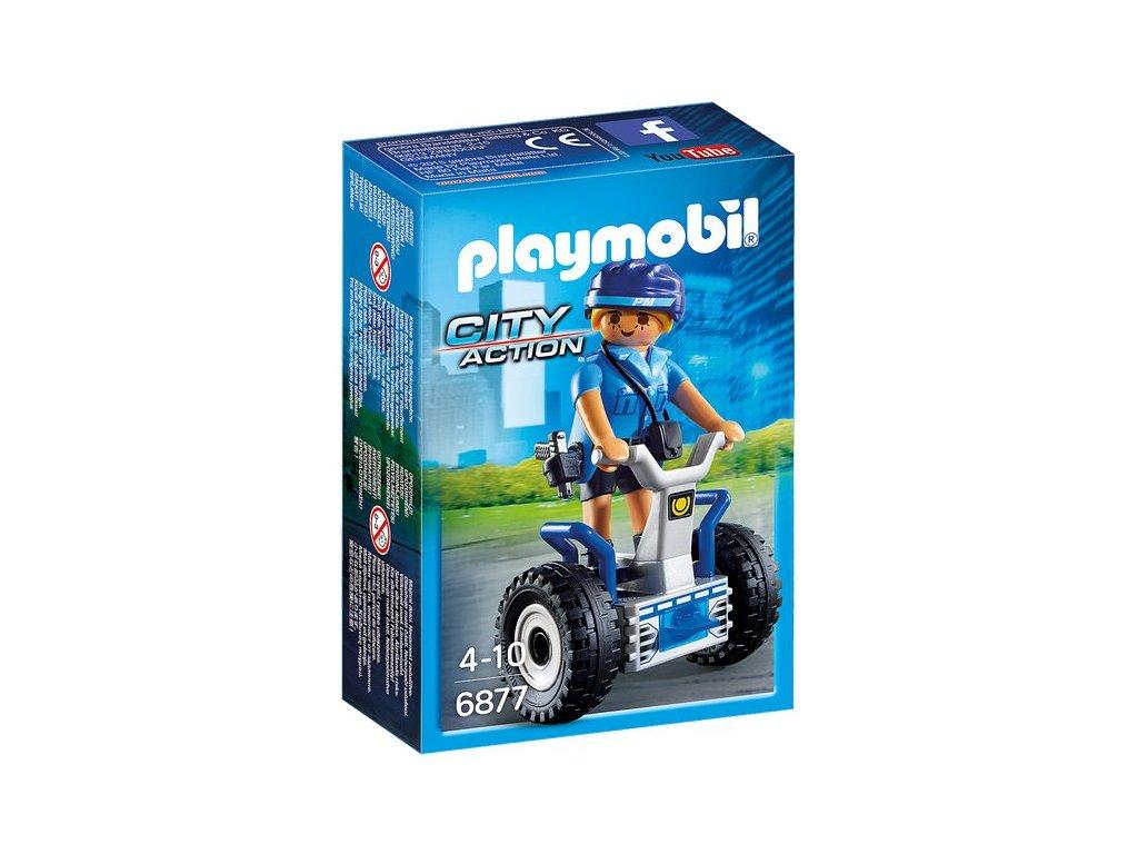 Playmobil Policistka na dvoukolce