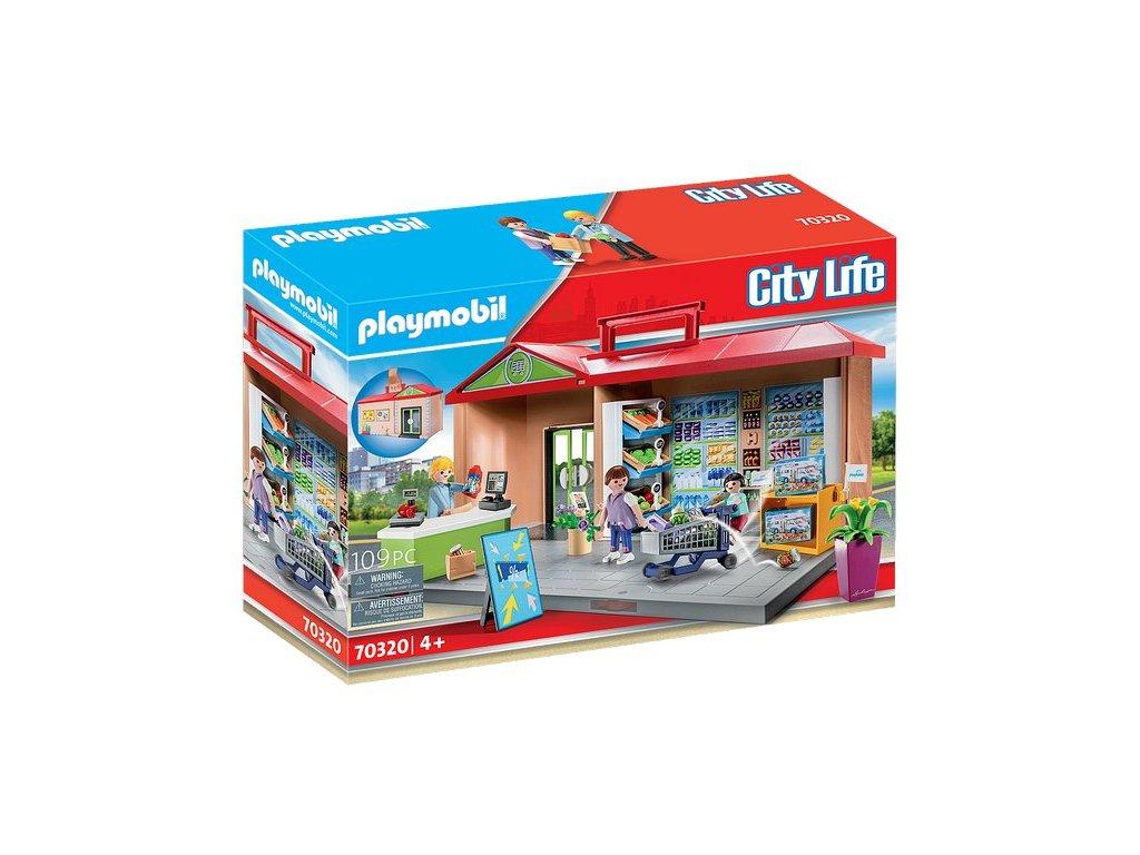 Playmobil Přenosný obchod s potravinami