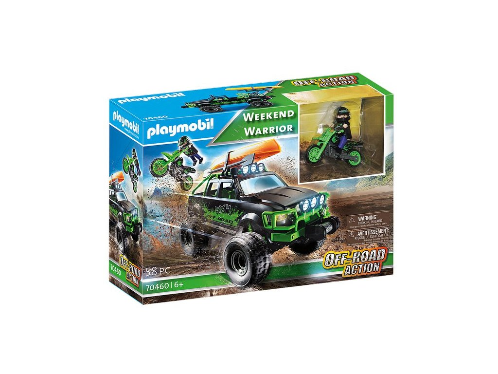 Playmobil Weekend Warrior Off-Road Action - auto a motorka