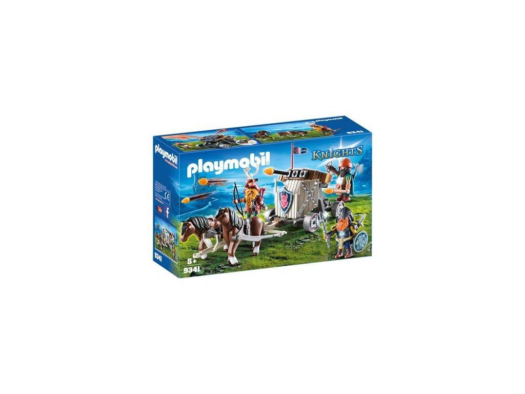 Playmobil Balista pro trpaslíky tažená poníky