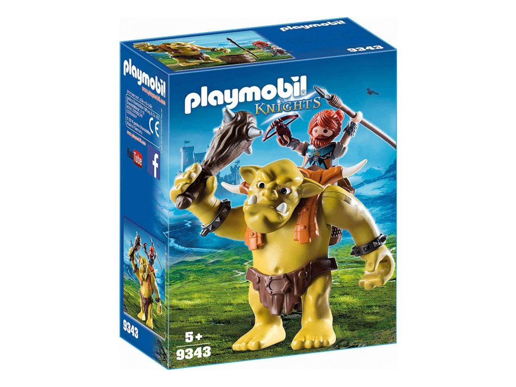 Playmobil Obří troll s batohem na trpaslíky