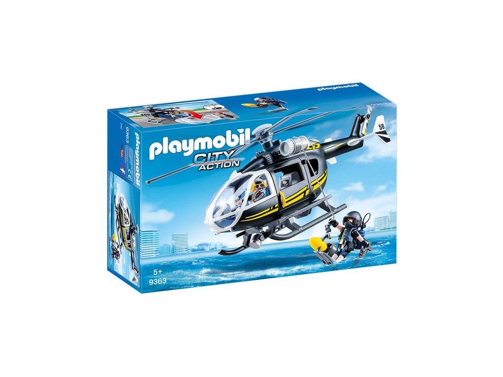 Playmobil Vrtulník speciální jednotky