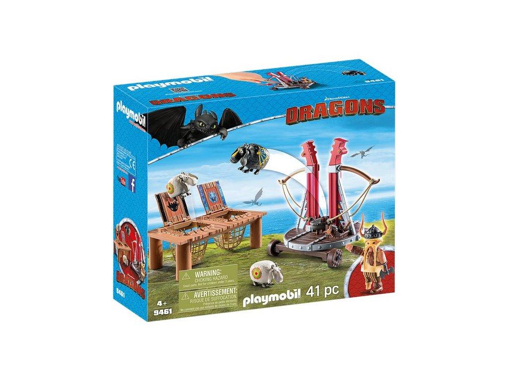 Playmobil Tlamoun Sopťák s prakem na ovce