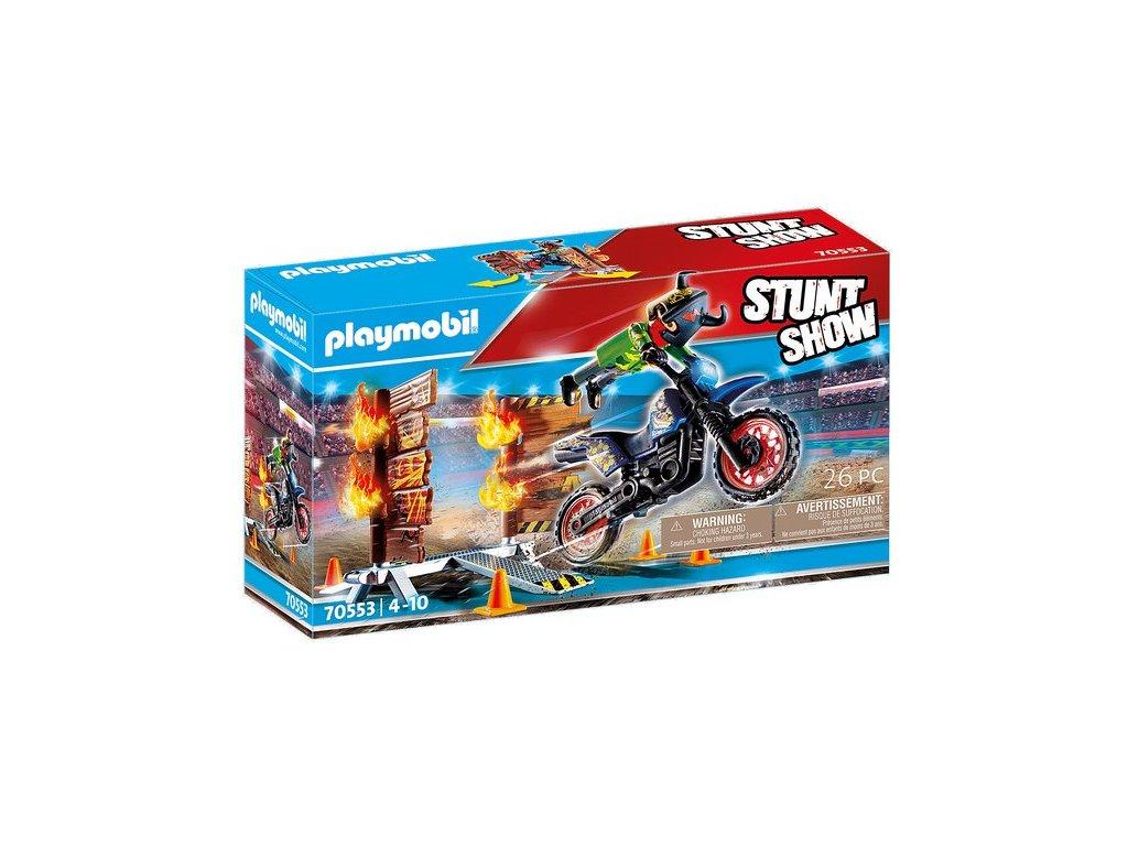 Playmobil Kaskadérská show Motorka s ohnivou stěnou