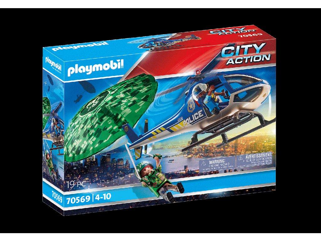 Playmobil Policejní vrtulník: Pronásledování padáku
