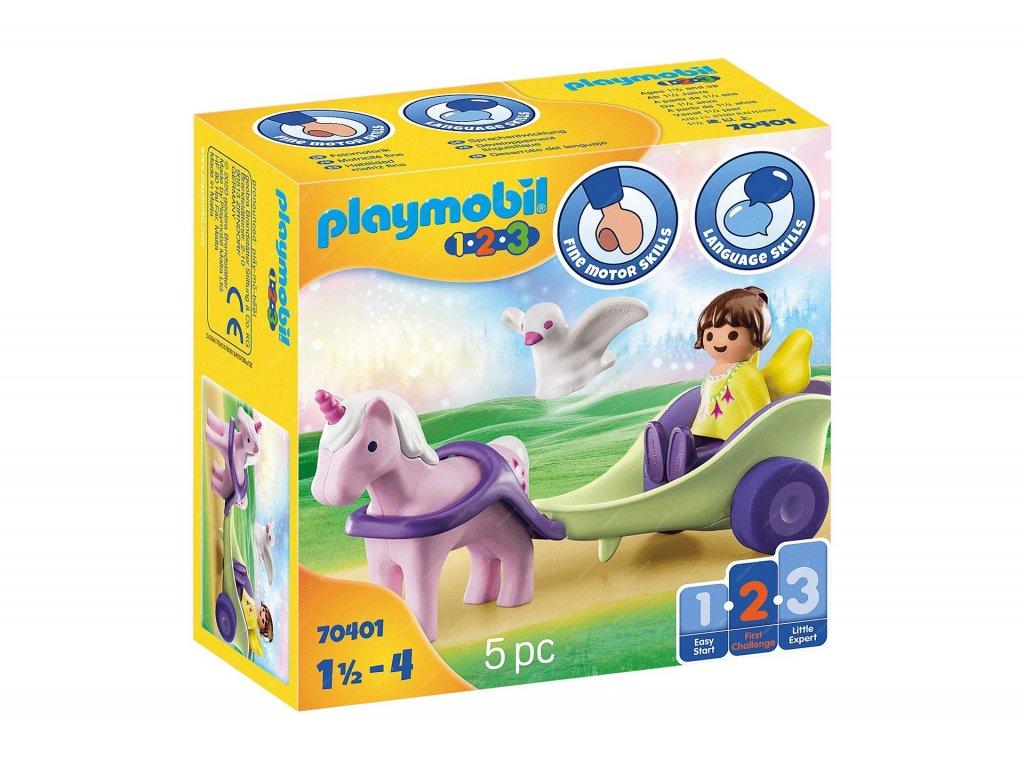 Playmobil Kočár s jednorožcem a vílou