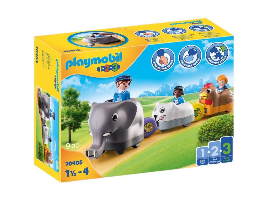 Playmobil Můj tahací vláček se zvířátky