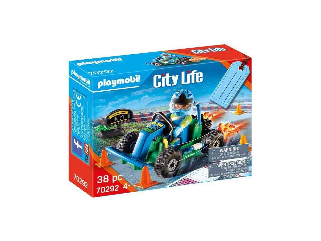 """Playmobil Dárkový set """"Motokárový závod"""""""