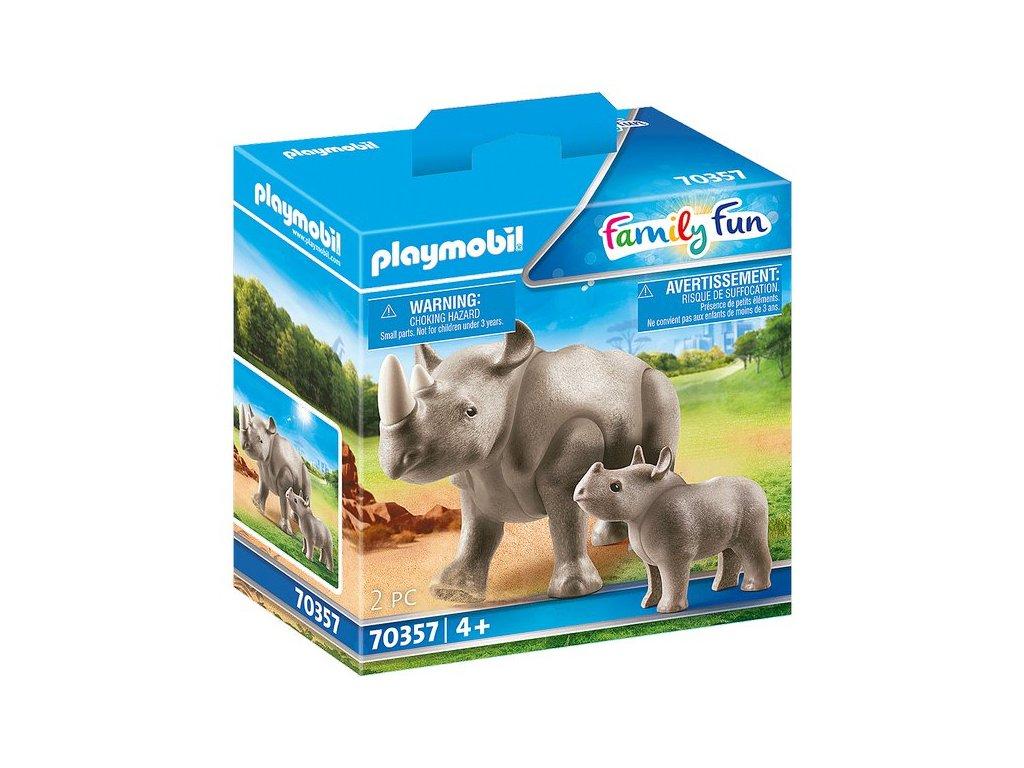 Playmobil Nosorožec s mládětem