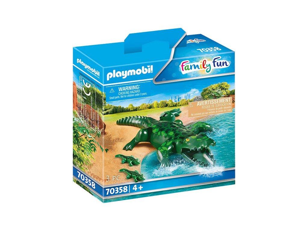 Playmobil Aligátor s mláďaty