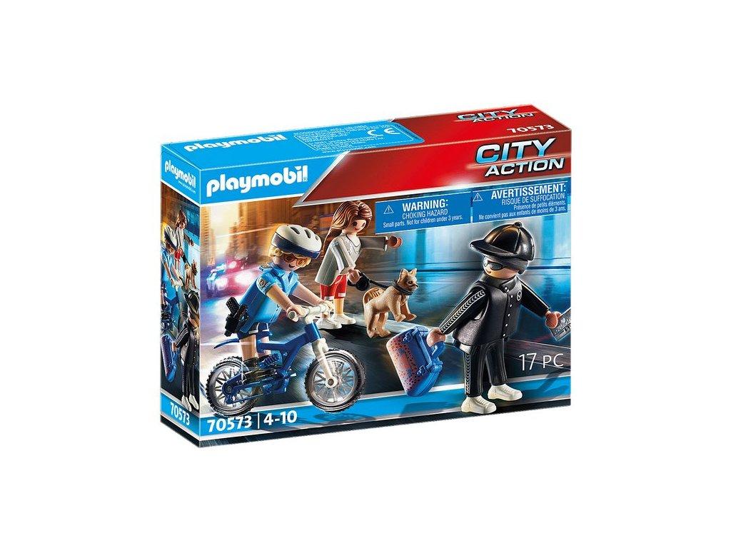 Playmobil Policejní kolo - pronásledování kapsáře