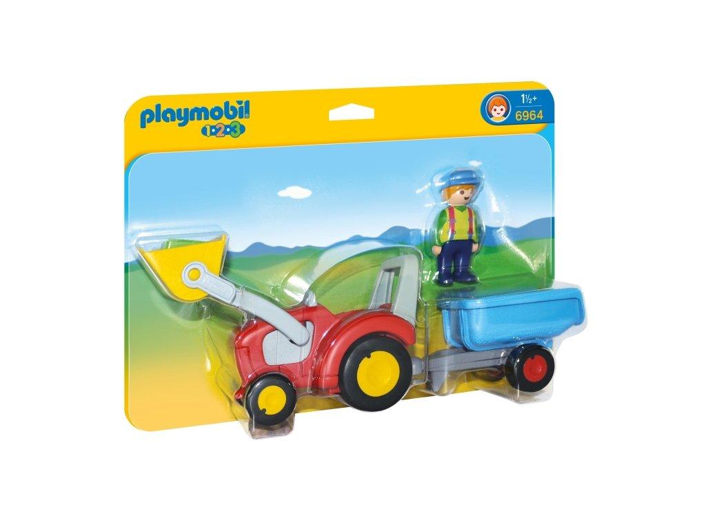 Playmobil Traktor s přívěsem