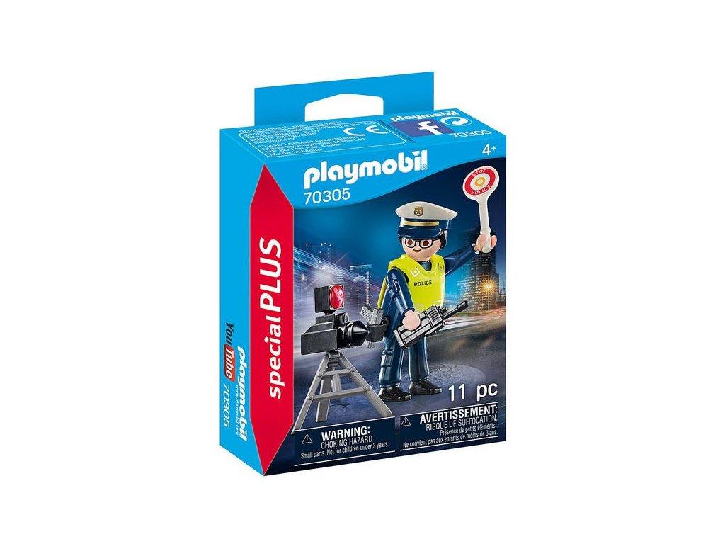 Playmobil Policista s radarem