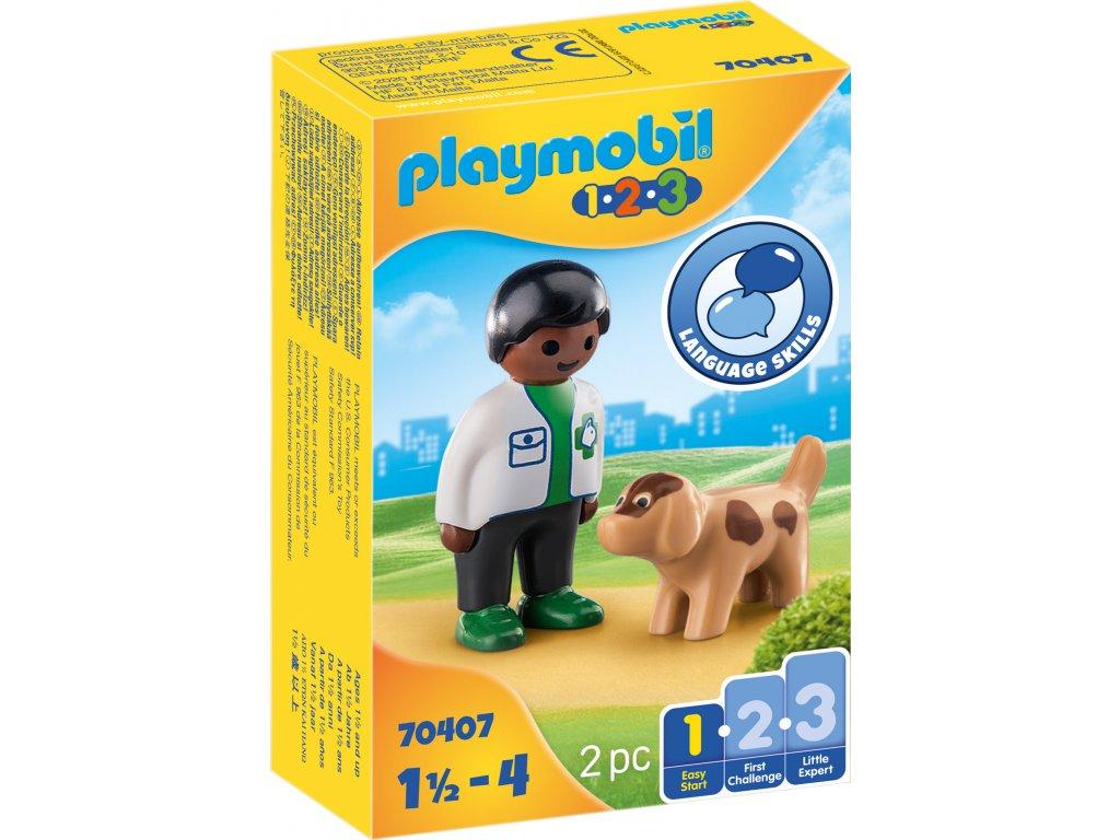 Playmobil Zvěrolékař se psem