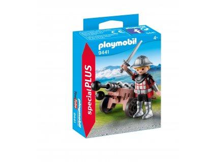 Playmobil Rytíř s kanónem