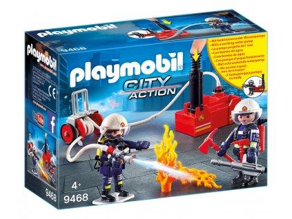 Playmobil Hasiči s vodním čerpadlem