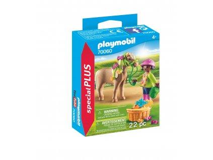Playmobil dívka s poníkem