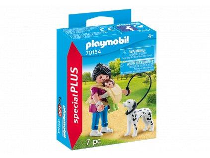 Playmobil Maminka s dítětem a psem