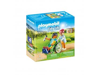 Playmobil Pacient na invalidním vozíku