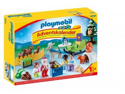 """Adventní kalendář Playmobil 1.2.3 """"Vánoce v lese"""""""