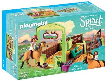 Playmobil Spirit koňský box Lucky a Spirit