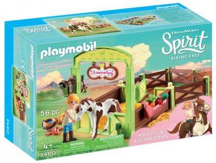 Playmobil Spirit Koňský box Abigeil a Bumerang