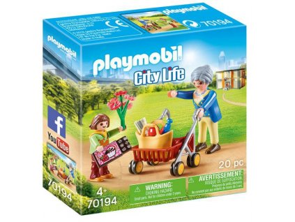 Playmobil Babička s chodítkem