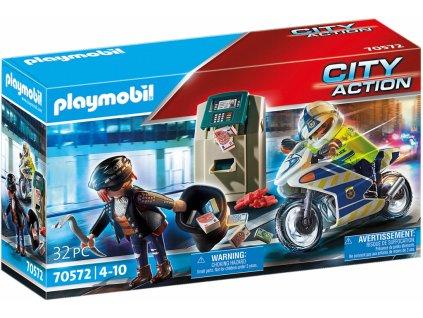 Playmobil Policejní motorka Pronásledování lupiče