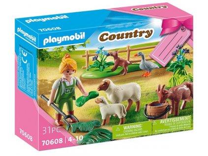 """Playmobil Dárkový set  """" Farmářka pasoucí zvířata"""""""