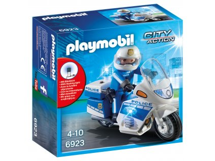 Playmobil Motohlídka s LED majáky