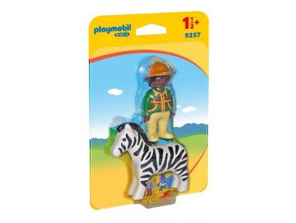 Playmobil lovec se zebrou