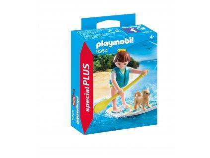 Playmobil dívka s paddleboardem