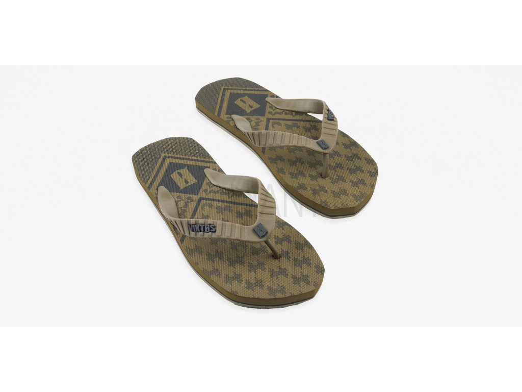 Chuville Shemagh Sandal Coyote Top Three Quarter