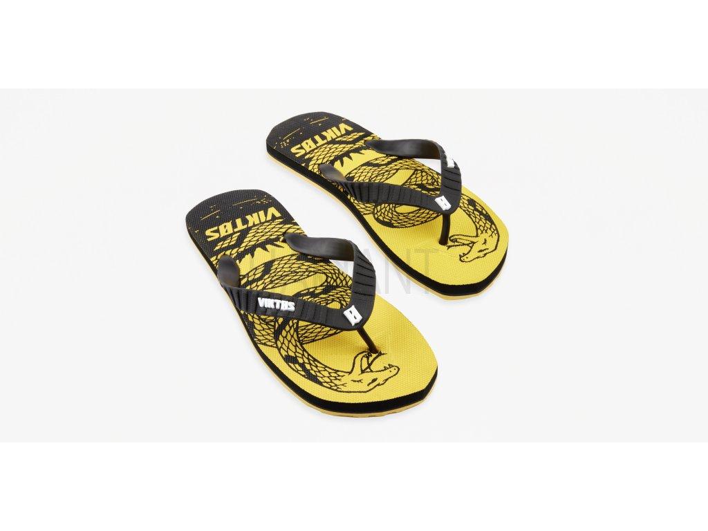 Chuville Treadnaught Sandal Yellow Top Three Quarter