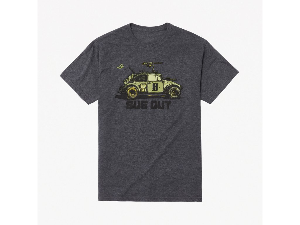 Bugout Tee Charcoal Heather Front Square