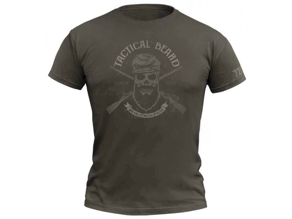 Tričko 720 Tactical beard Army
