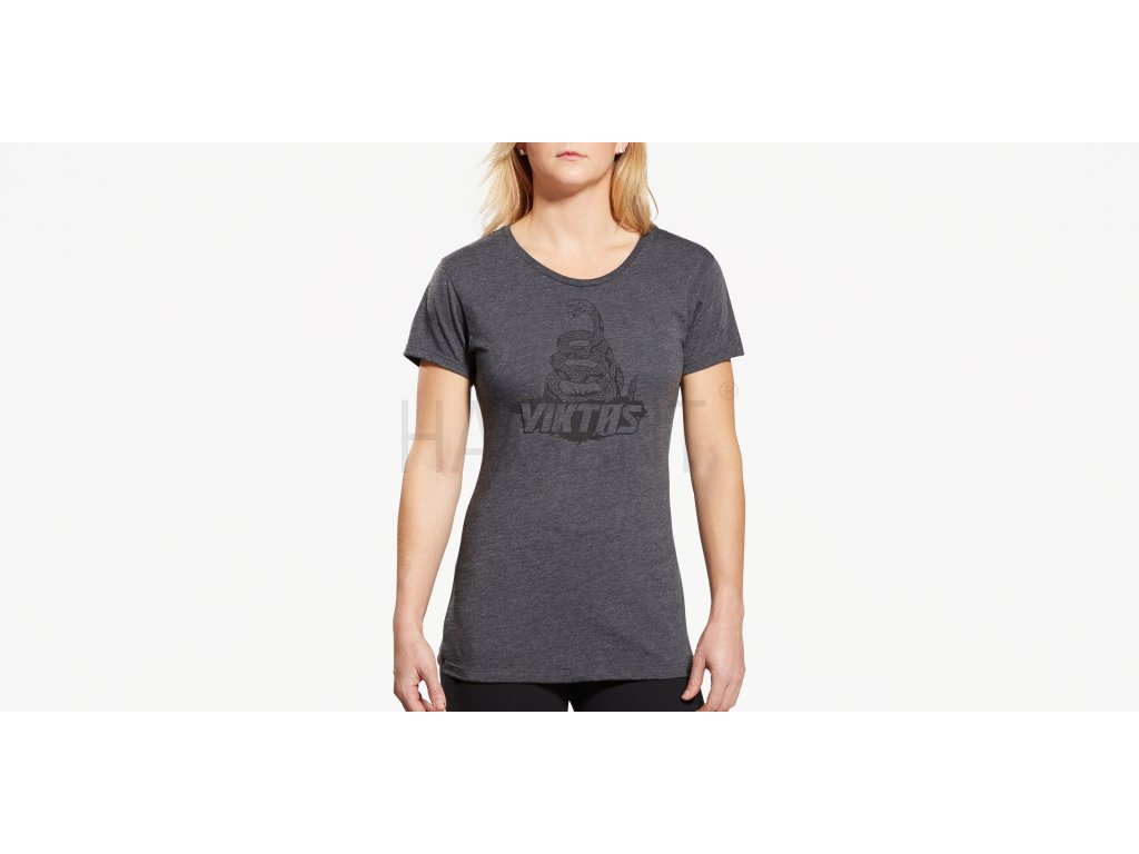 Treadnaught Womens Tee Charcoal Front