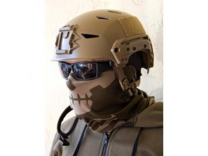 Multifunkční šátek Grey Ghost Gear Skull Mask (Barva OLIVE-TAN)