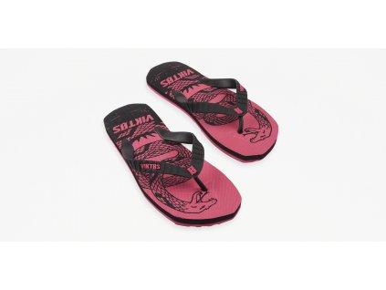 Chuville Treadnaught Sandal Pink Top Three Quarter