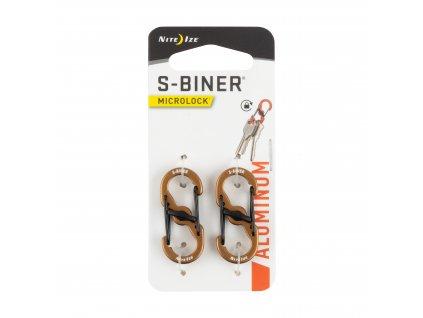 Nite Ize S-Biner Microlock oboustranná karabina hliníková s pojistkou
