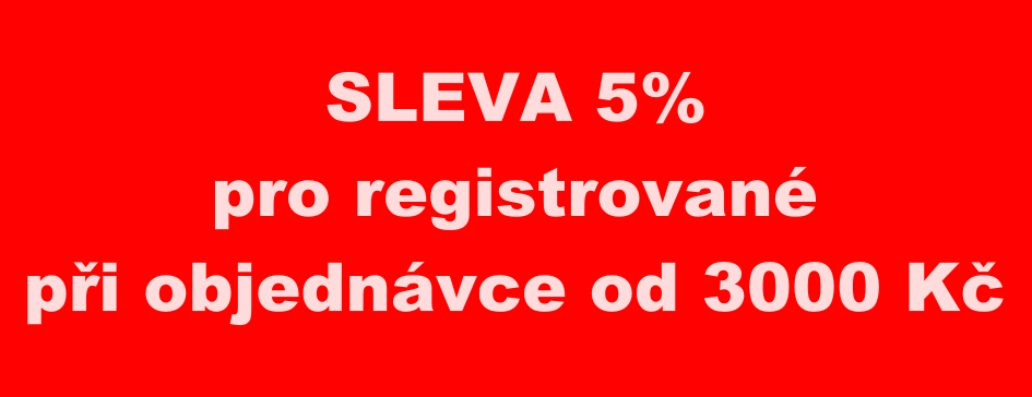 Sleva 5% pro registrované