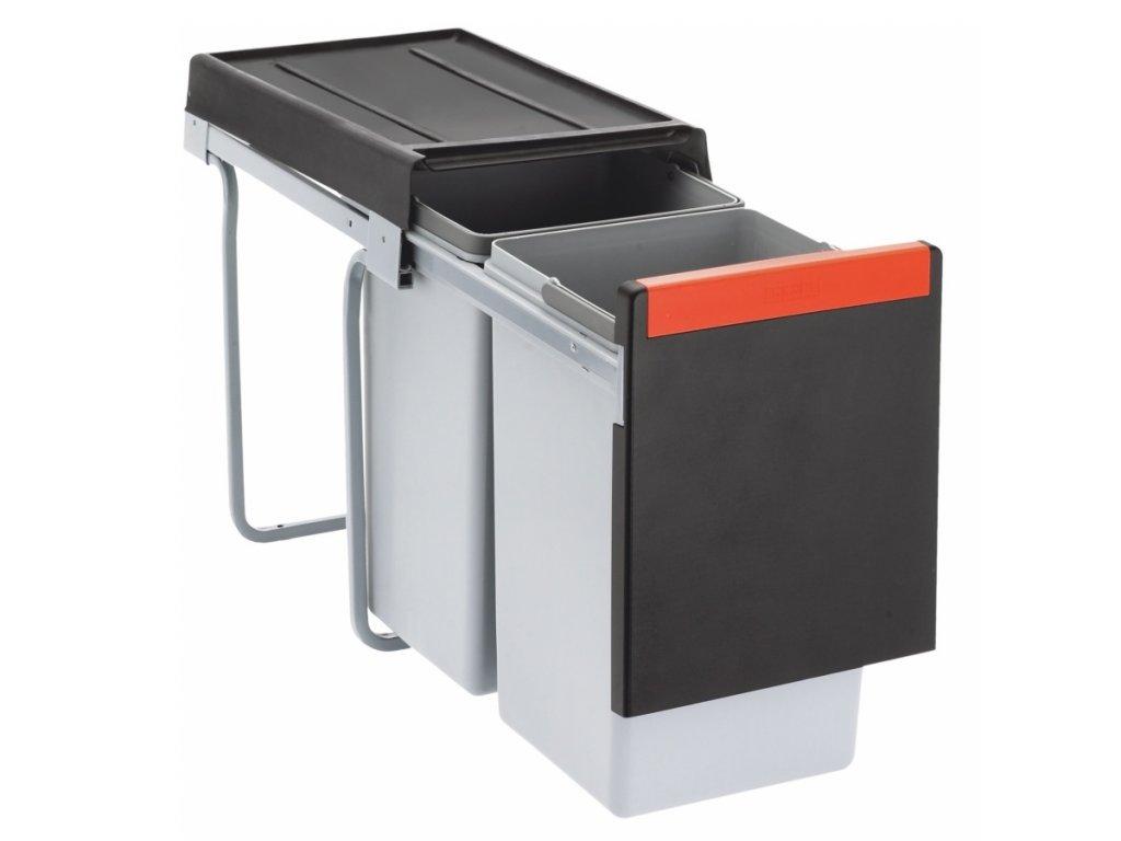 Odpadkový koš Cube 30, 2x 15l