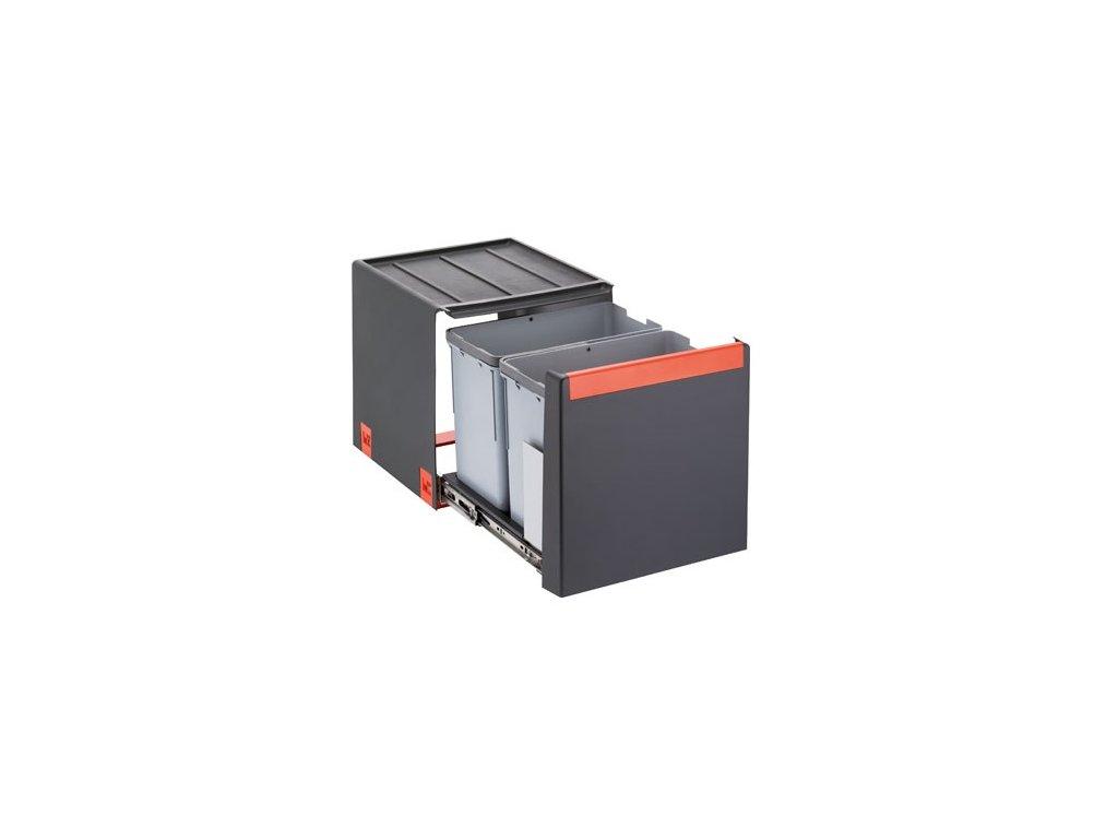 Odpadkový koš Cube 40, 2x 14l