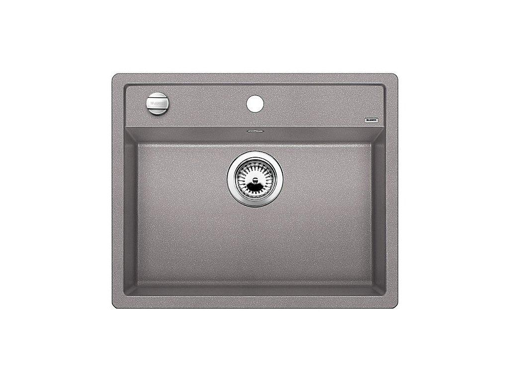 Granitový dřez Blanco DALAGO 6 aluminium s excentrem  + Čistící prostředek BLANCO ANTIKALK 30 ml