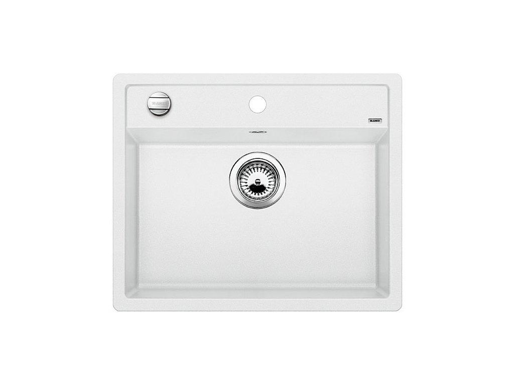 Granitový dřez Blanco DALAGO 6 bílá s excentrem  + Čistící prostředek BLANCO ANTIKALK 30 ml