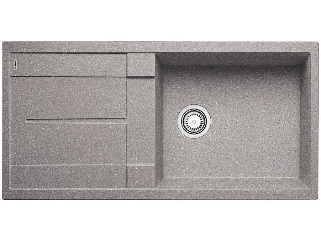 Kuchyňský granitový dřez Blanco METRA XL 6 S aluminium  + Čistící prostředek BLANCO ANTIKALK 30 ml