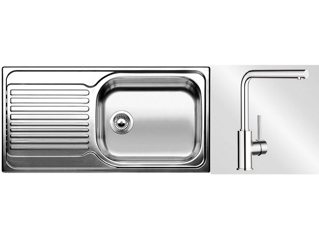 Kuchyňský set Blanco nerez dřez TIPO XL 6 S + baterie MILA