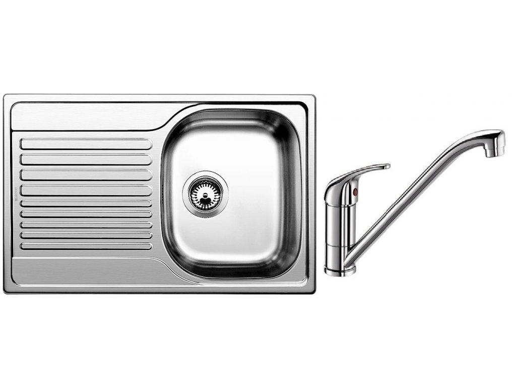 Kuchyňský set Blanco nerez dřez TIPO 45 S Compact C + baterie DARAS